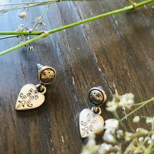 Brighton Sliver Celtic Heart Earrings